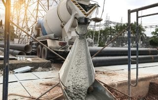 Mixer truck is transport cement to the casting place on building site